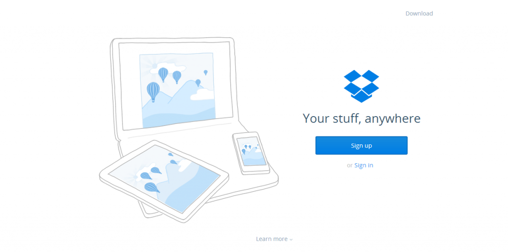 dropbox website